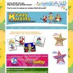 Lybelle Creations Web Design Portfolio - Krazy Kuzins
