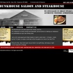 Lybelle Creations Web Design Portfolio - Bunkhouse Saloon and Steakhouse