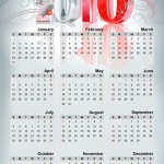 Lybelle Creations Printed Design Portfolio - 2010 Calendar Poster