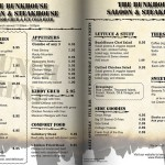 Lybelle Creations Printed Design Portfolio - Bunkhouse Saloon Lunch Menu