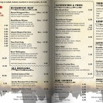 Lybelle Creations Printed Design Portfolio - Bunkhouse Saloon Dinner Menu