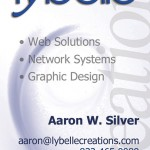 Lybelle Creations Printed Design Portfolio - Lybelle Creations Business Card Design 2