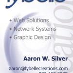 Lybelle Creations Printed Design Portfolio - Lybelle Creations Business Card Design 2