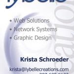 Lybelle Creations Printed Design Portfolio - Lybelle Creations Business Card Design